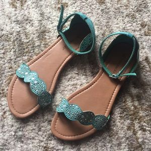 Turquoise gypsy sandals